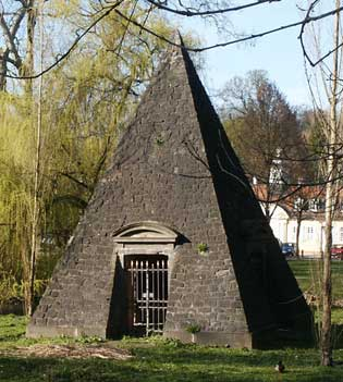 Pyramid at the site of the Congress of Wilhelmsbad