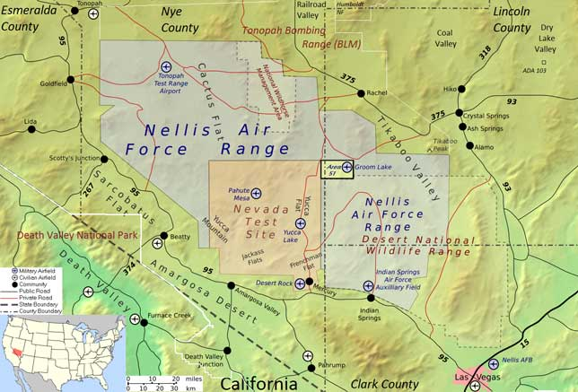 Location of Area 51 (source: wiki)