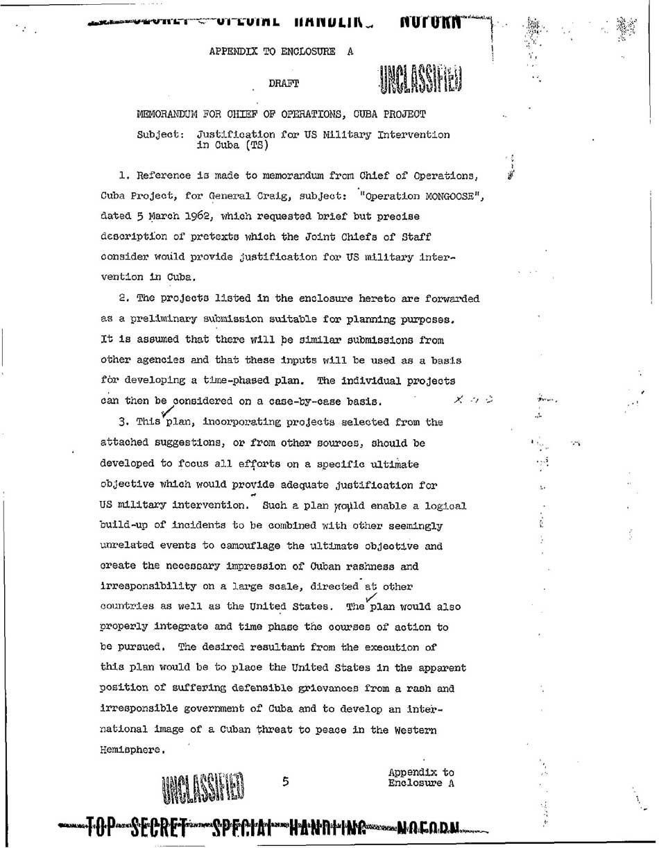 project northwoods Background operation northwoods was a series of false flag proposals that originated within the united states government in 1962, but were rejected by the.
