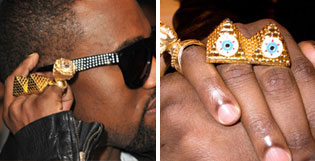 kanye west jewelry Top 10 Celebridades Illuminati