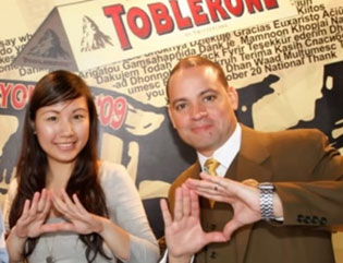 Sign for Toblerone's triangular shape or shout out to Illuminati?