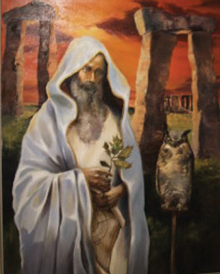 Druid with Owl painting at the George Washington Masonic National Memorial