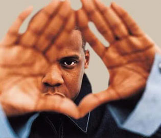 "Jay-Z doing the ""Roc Sign"""