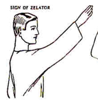 Golden Dawn sign for Sign of Zelator