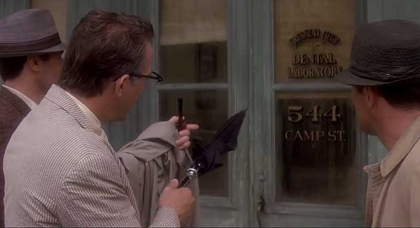 Jim Garrison at 544 Camp Street in Oliver Stone's JFK