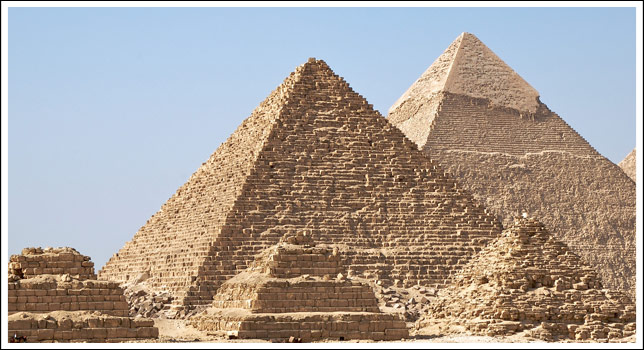 Pyramid - The pyramid is used in combination the All-Seeing Eye on the Great Seal of the United States
